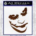 Badman Villain DJ Why So Serious Decal Sticker Brown Vinyl 120x120