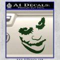 Badman Villain DJ Why So Serious Decal Sticker Dark Green Vinyl 120x120