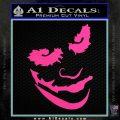 Badman Villain DJ Why So Serious Decal Sticker Hot Pink Vinyl 120x120