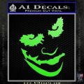 Badman Villain DJ Why So Serious Decal Sticker Lime Green Vinyl 120x120