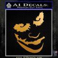 Badman Villain DJ Why So Serious Decal Sticker Metallic Gold Vinyl 120x120