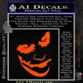 Badman Villain DJ Why So Serious Decal Sticker Orange Vinyl Emblem 120x120