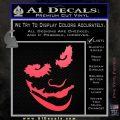 Badman Villain DJ Why So Serious Decal Sticker Pink Vinyl Emblem 120x120