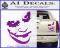 Badman Villain DJ Why So Serious Decal Sticker Purple Vinyl 120x97