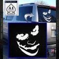 Badman Villain DJ Why So Serious Decal Sticker White Vinyl Emblem 120x120