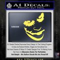Badman Villain DJ Why So Serious Decal Sticker Yellow Vinyl 120x120