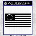 Betsy Ross Flag American Decal Sticker Black Vinyl Logo Emblem 120x120