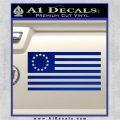 Betsy Ross Flag American Decal Sticker Blue Vinyl 120x120