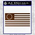 Betsy Ross Flag American Decal Sticker Brown Vinyl 120x120