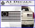 Betsy Ross Flag American Decal Sticker Carbon Fiber Black 120x97