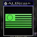 Betsy Ross Flag American Decal Sticker Lime Green Vinyl 120x120