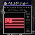 Betsy Ross Flag American Decal Sticker Pink Vinyl Emblem 120x120