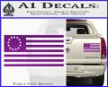 Betsy Ross Flag American Decal Sticker Purple Vinyl 120x97