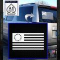 Betsy Ross Flag American Decal Sticker White Vinyl Emblem 120x120