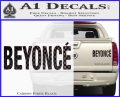 Beyonce Decal Sticker TXT Carbon Fiber Black 120x97