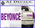 Beyonce Decal Sticker TXT Purple Vinyl 120x97