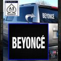 Beyonce Decal Sticker TXT White Vinyl Emblem 120x120
