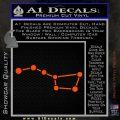 Big Dipper Decal Sticker Orange Vinyl Emblem 120x120