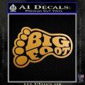 Big Foot Decal Sticker F23 Decal Sticker Metallic Gold Vinyl 120x120