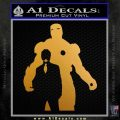 Billionaire Playboy Robot Decal Sticker Metallic Gold Vinyl 120x120