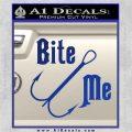 Bite Me Fishing Decal Sticker Hook Blue Vinyl 120x120