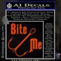 Bite Me Fishing Decal Sticker Hook Orange Vinyl Emblem 120x120