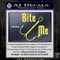 Bite Me Fishing Decal Sticker Hook Yellow Vinyl 120x120
