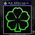 Black Clover D1 Decal Sticker Lime Green Vinyl 120x120