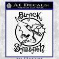 Black Sabbath Decal Sticker Full Black Vinyl Logo Emblem 120x120