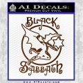 Black Sabbath Decal Sticker Full Brown Vinyl 120x120