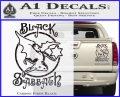 Black Sabbath Decal Sticker Full Carbon Fiber Black 120x97