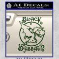 Black Sabbath Decal Sticker Full Dark Green Vinyl 120x120