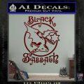 Black Sabbath Decal Sticker Full Dark Red Vinyl 120x120
