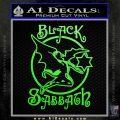 Black Sabbath Decal Sticker Full Lime Green Vinyl 120x120