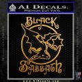 Black Sabbath Decal Sticker Full Metallic Gold Vinyl 120x120