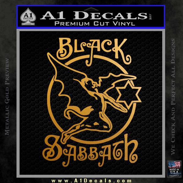 Black Sabbath Decal Sticker Full Metallic Gold Vinyl