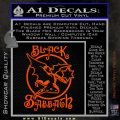 Black Sabbath Decal Sticker Full Orange Vinyl Emblem 120x120