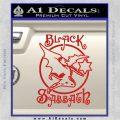 Black Sabbath Decal Sticker Full Red Vinyl 120x120
