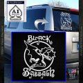 Black Sabbath Decal Sticker Full White Vinyl Emblem 120x120