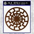 Black Sun Rune Decal Sticker Brown Vinyl 120x120