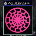Black Sun Rune Decal Sticker Hot Pink Vinyl 120x120