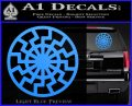 Black Sun Rune Decal Sticker Light Blue Vinyl 120x97