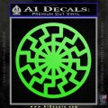 Black Sun Rune Decal Sticker Lime Green Vinyl 120x120