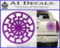 Black Sun Rune Decal Sticker Purple Vinyl 120x97