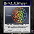Black Sun Rune Decal Sticker Sparkle Glitter Vinyl Sparkle Glitter 120x120