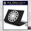 Black Sun Rune Decal Sticker White Vinyl Laptop 120x120