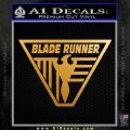 Blade Runner Decal Sticker TRI Metallic Gold Vinyl 120x120