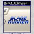 Blade Runner Decal Sticker Title Blue Vinyl 120x120