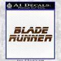 Blade Runner Decal Sticker Title Brown Vinyl 120x120