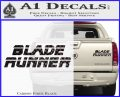 Blade Runner Decal Sticker Title Carbon Fiber Black 120x97